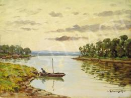 Rubovics Márk - Naplemente a folyóparton