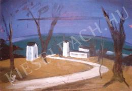 Farkas István - Lakatlan város (Kihalt város, lakatlan ház, tengerparti táj) (1931)