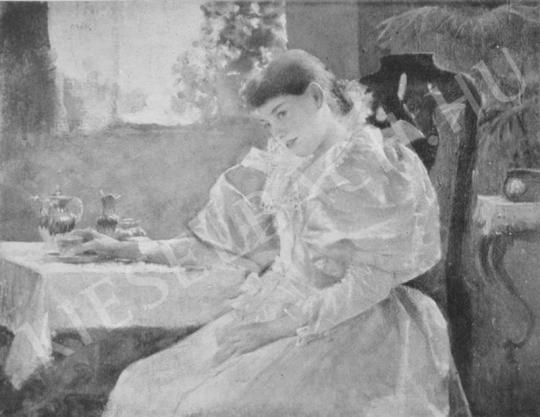 Csók István - Merengés festménye