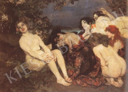 Csók István - Vámpirok festménye