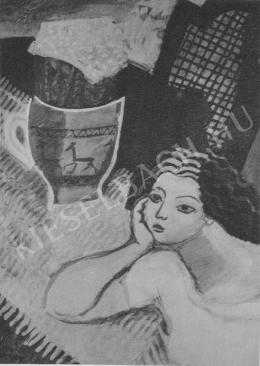 Berény, Róbert - Woman Leaning on Her Elbow