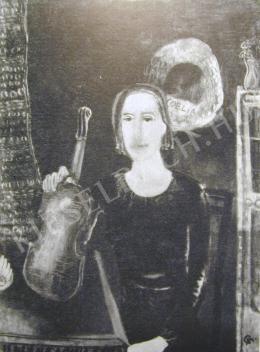Bernáth Aurél - Hegedűművésznő (1911)