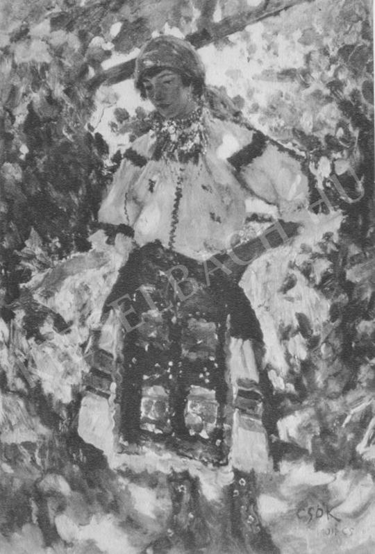 Csók István - Sokác leány festménye