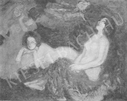 Csók István - Vampírok festménye