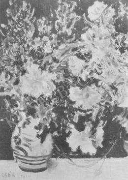 Csók István - Virágos csendélet (1912)