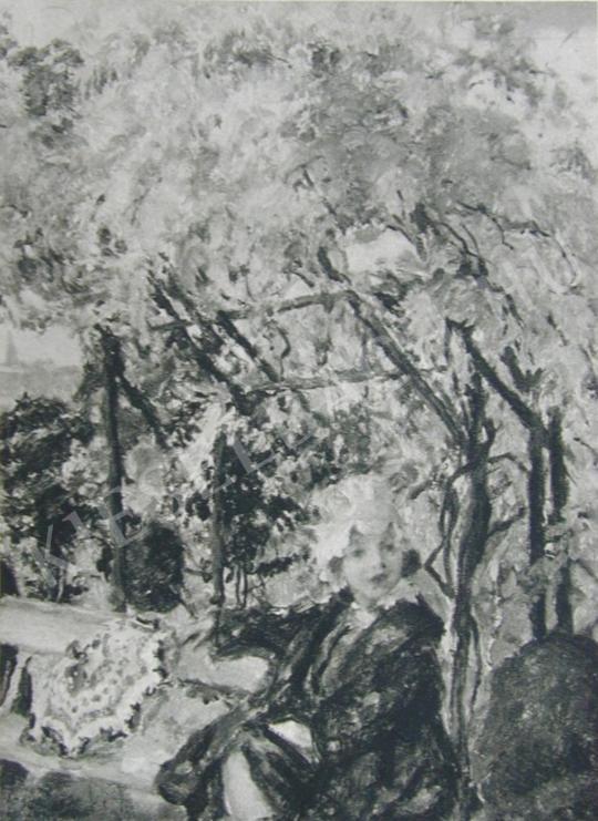 Csók István - Züzü a Margitszigeten festménye