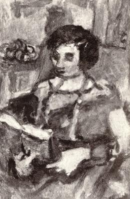 Czóbel Béla - Olvasó nő