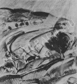 Egry, József - Landscape in Badacsony (1929)
