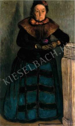 Rippl-Rónai József - Öreg hölgy ibolyával (1895)