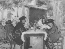 Rippl-Rónai József - Nyári vendéglő udvarán (1903)