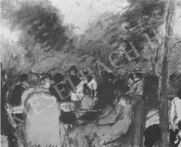 Rippl-Rónai József - Családi társaság búcsúkor (1903)
