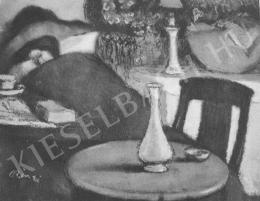 Rippl-Rónai József - Lazarine betegen,  Migrénes hölgy (1905)