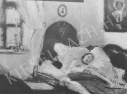Rippl-Rónai József - Édesanyám beteg (1905)