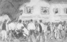 Rippl-Rónai József - Francia katonák bevonuláskor (1914)