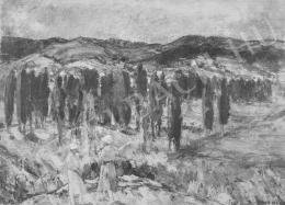 Vaszary János - Jegenyék a Balaton mellett (1923)