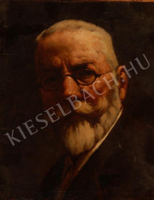 Benczúr, Gyula - Self-Portrait painting