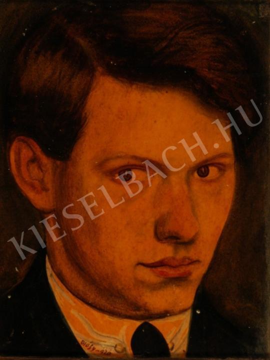 Diósy Antal - Önarckép festménye