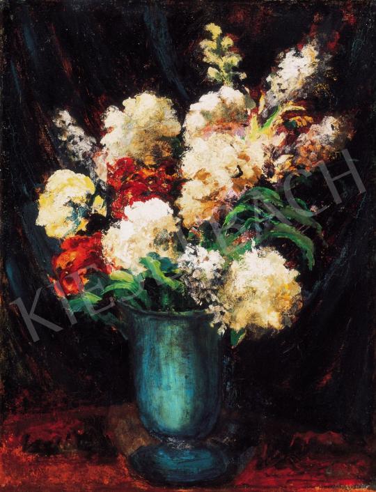 Orbán Dezső - Virágcsokor kék vázában   21. Aukció aukció / 172 tétel