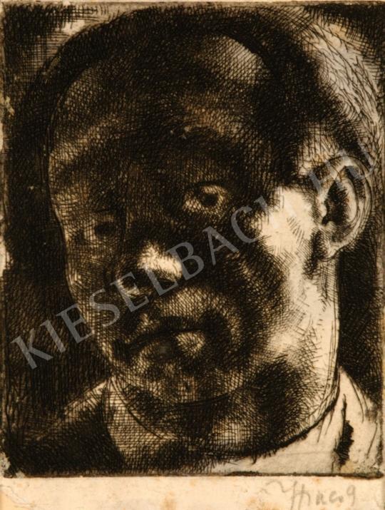 Hincz Gyula - Önarckép festménye