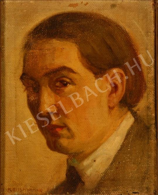 Krusnyák Károly - Önarckép festménye