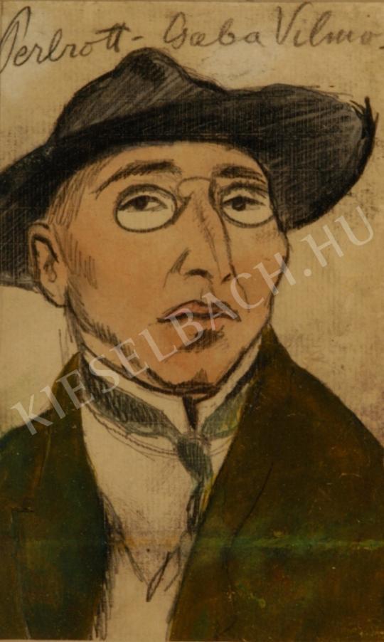 Perlrott Csaba Vilmos - Önarckép festménye