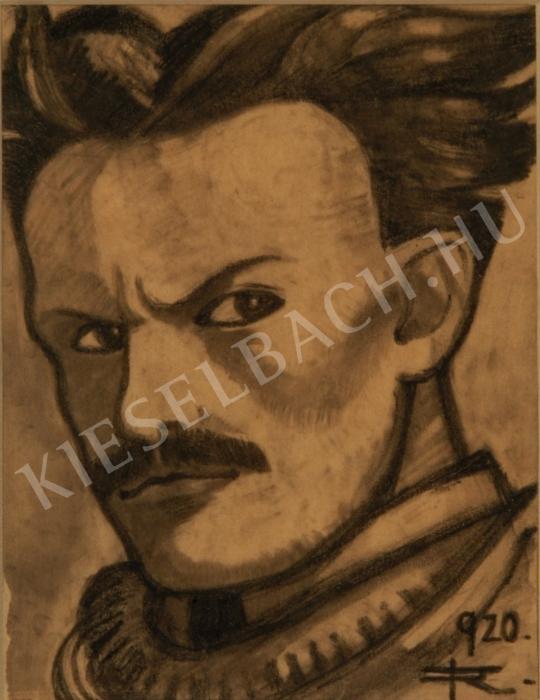 Remsey Jenő György - Önarckép festménye