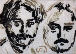 Rippl-Rónai József - Dupla önarckép