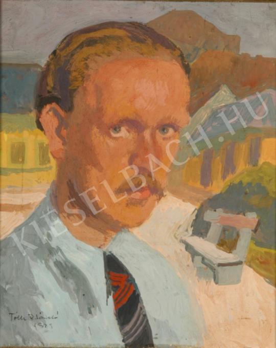 Tóth B. László - Önarckép festménye