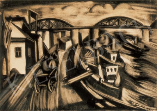 Schönberger Armand - Dunapart uszályokkal | 26. Aukció aukció / 11 tétel
