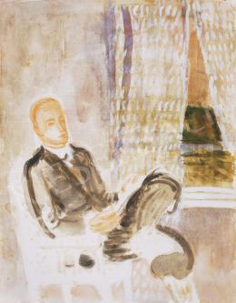 Bernáth Aurél - Önarckép ablak előtt, 1937