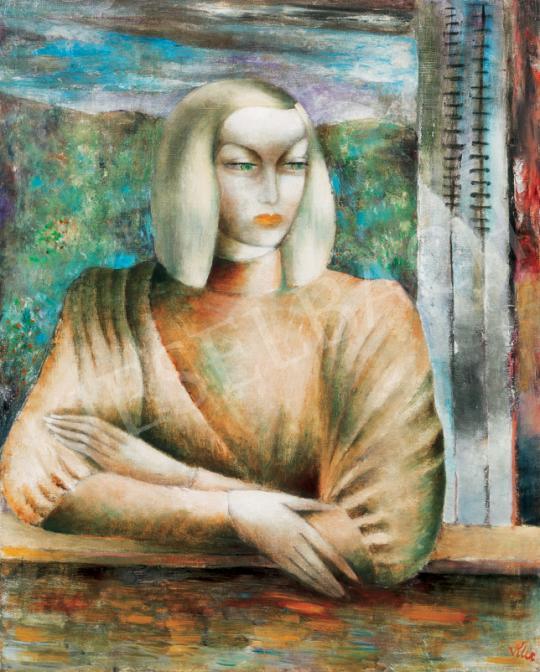 Klie Zoltán - Ablakban, 1930-as évek második fele | 26. Aukció aukció / 23 tétel