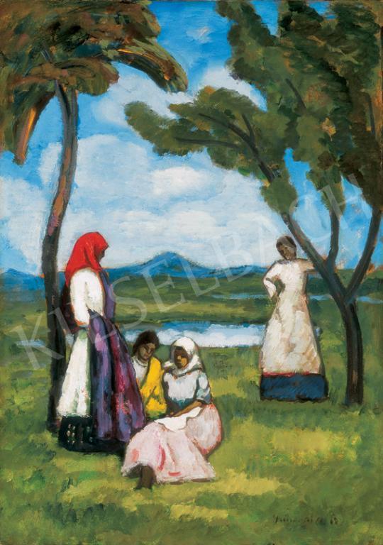 Iványi Grünwald Béla - Szabadban, 1910-es évek eleje | 26. Aukció aukció / 41 tétel