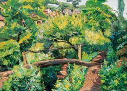 Widder Félix - Tájkép patakkal, kis híddal
