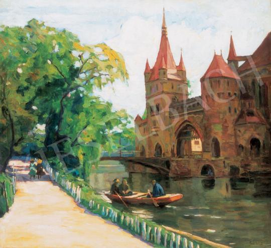 Béli Vörös Ernő - Csónakázás a városligeti tavon   26. Aukció aukció / 80 tétel