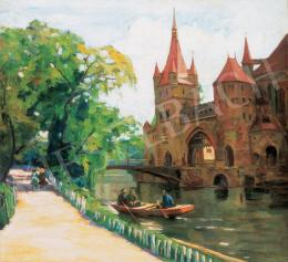 Béli Vörös, Ernő - Boating on the Lake of the City Park