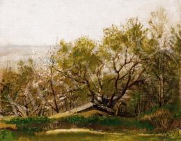 Mednyánszky László - Virágzó fák