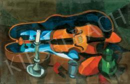 Simon György János - Csendélet hegedűvel