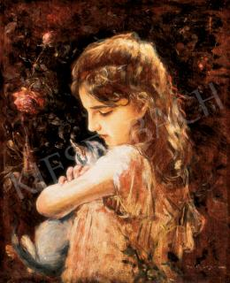 Bruck, Lajos - Girl with a Cat