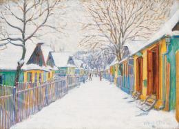 Kádár Géza - Téli utca Nagybányán