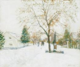 Kunffy, Lajos - Snow-Covered Village in Somogy in Winter