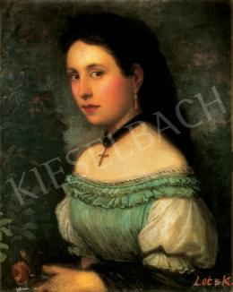 Lotz, Károly - Young Girl with Coralle Earring