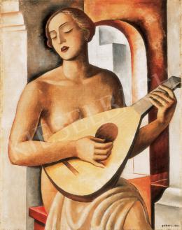 Gábor Jenő - Nő mandolinnal, 1932