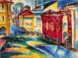 Uitz, Béla - Street in Moscow, 1921