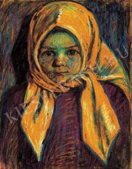 Nagy István - Sárgakendős kislány, 1917