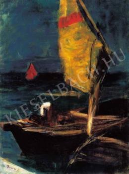 Koszta József - Sárga vitorla (Sárga vitorlás), 1910 körül