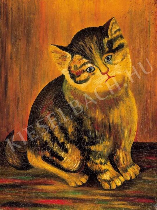 Ismeretlen festő - Cica, XX. század első fele festménye