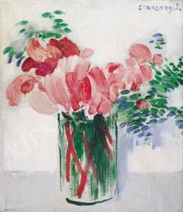 Vaszary, János - Cyclamens in a Glass, 1930s