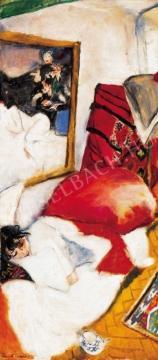 Frank Frigyes - Reggeli ébredés (Mimi), 1928 festménye