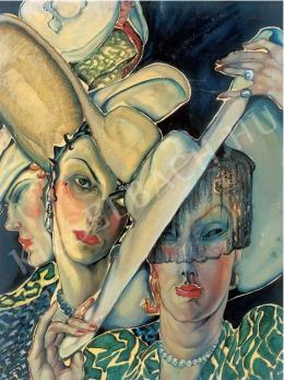 Batthyány Gyula - Kalapos nők, 1930-as évek