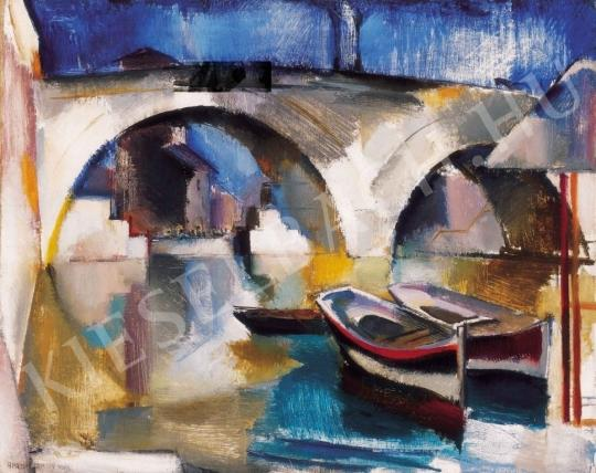 Aba-Novák, Vilmos - A Bridge in Rome, 1929 painting